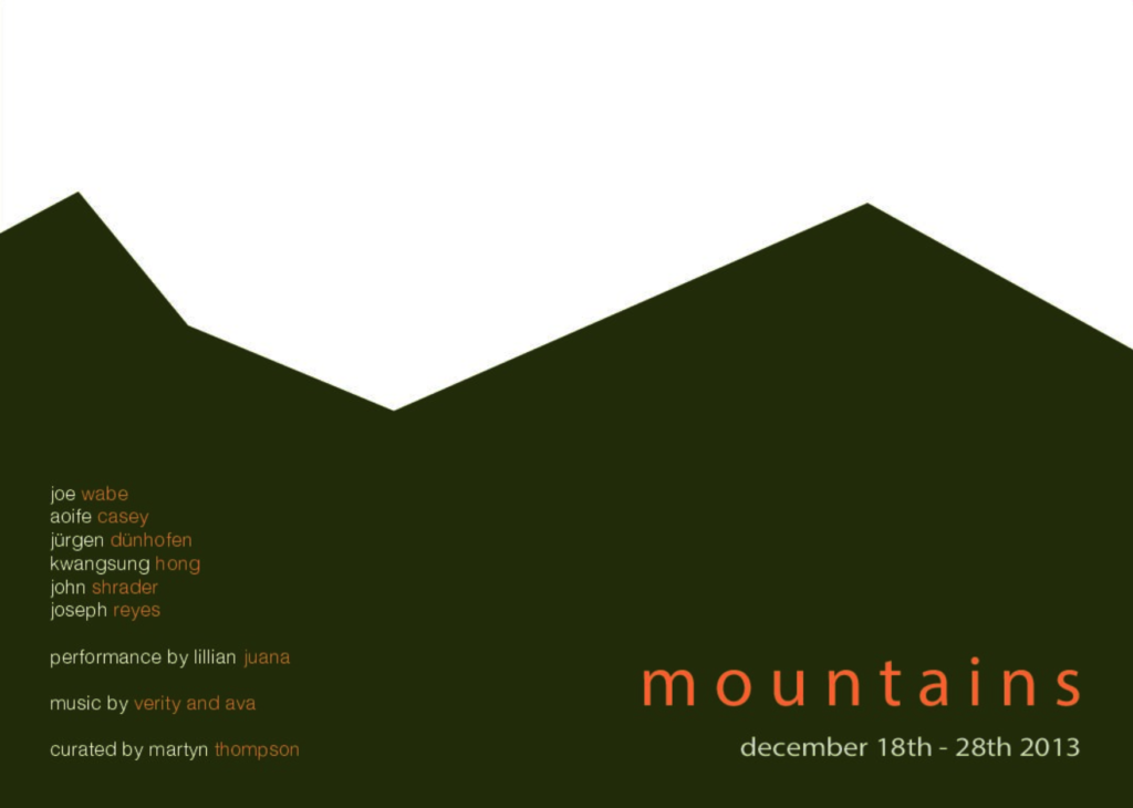 Mountains - curated by Martyn Thompson